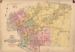 Springfield, Massachusetts 1920 Index Map