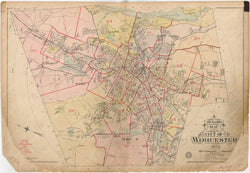 Worcester, Massachusetts 1911 Index Map