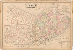Boston, Massachusetts 1888 Vol. 1 Index Plate