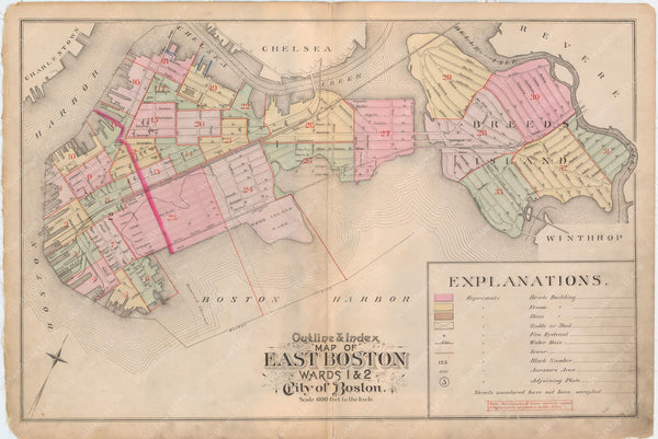 East Boston, Massachusetts 1892 Index Map