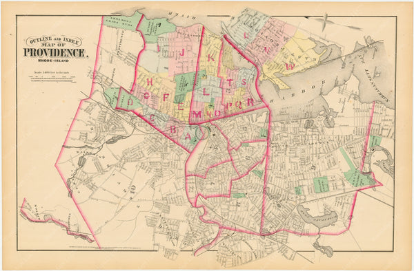 Providence, Rhode Island, Vol. 1, 1875 Index Map