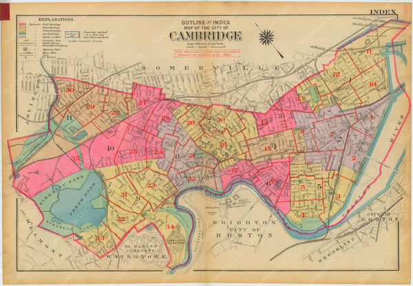 Cambridge, Massachusetts 1930 Index Plate