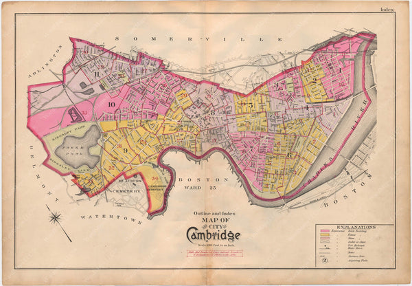 Cambridge, Massachusetts 1903 Index Map