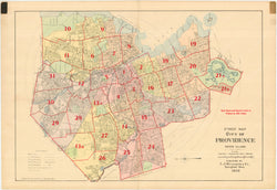 Providence, Rhode Island 1908 Index Map