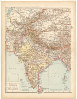 India and Central Asia 1895