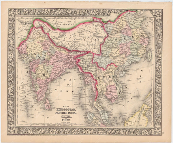 Asia: Southern Part 1864
