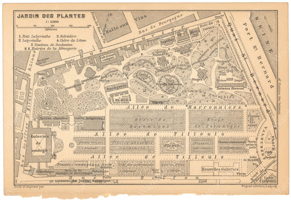 Paris, France 1894: Jardin des Plantes