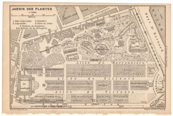 Paris, France 1891: Jardin des Plantes