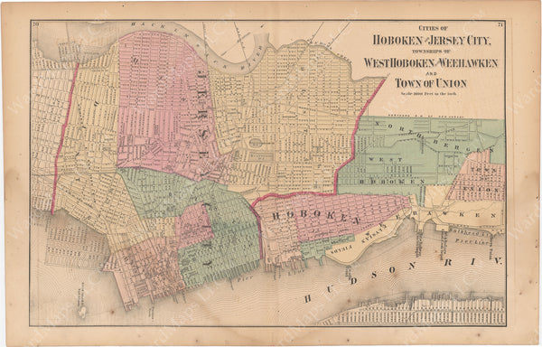 Hoboken, Jersey City, Weehawken, West Hoboken, and Union, New Jersey 1872