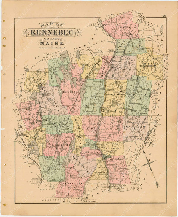 Kennebec County, Maine 1894-95