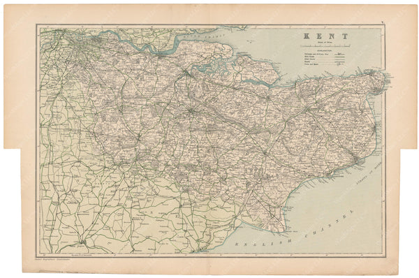 London, England and Suburbs 1910: Kent County