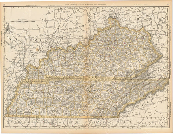 Kentucky and Tennessee 1892