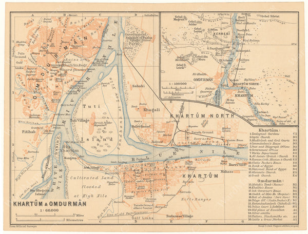 Khartoum and Omdurman, Sudan 1908
