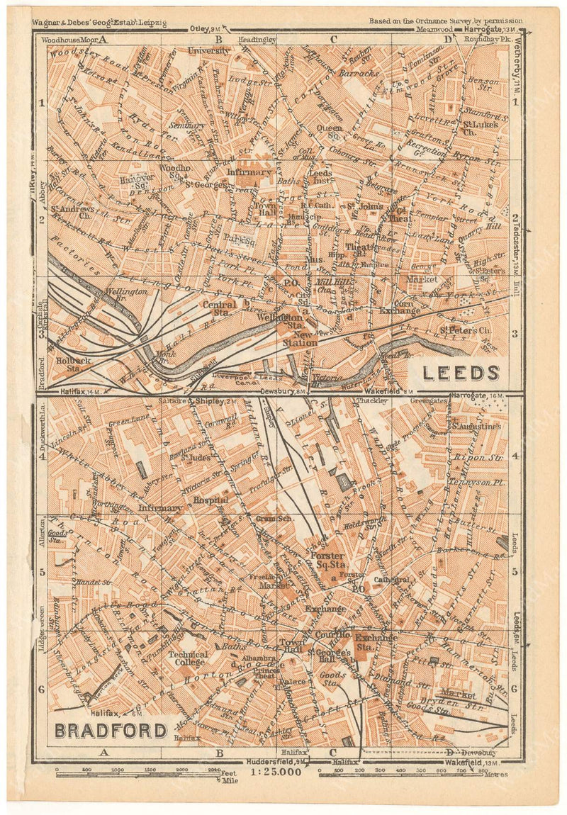 Bradford and Leeds, England 1927