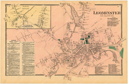 Leominster Center, Massachusetts 1870