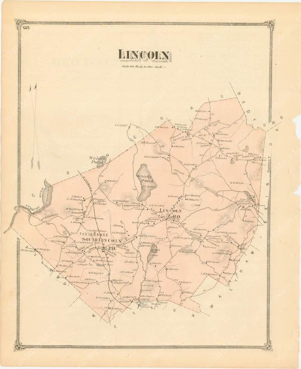 Lincoln, Massachusetts 1875