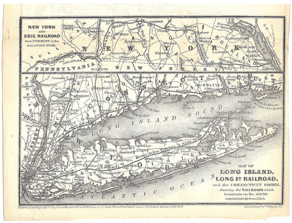 New York Railroads 1848: Long Island, New York & Erie, and New York & New Haven