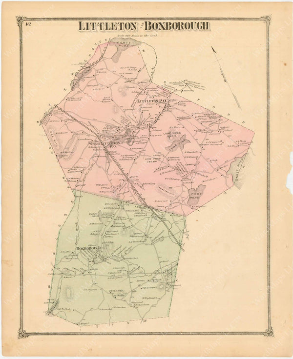 Littleton and Boxborough, Massachusetts 1875