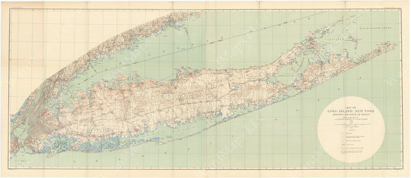 Long Island, New York 1904: Locations of Wells