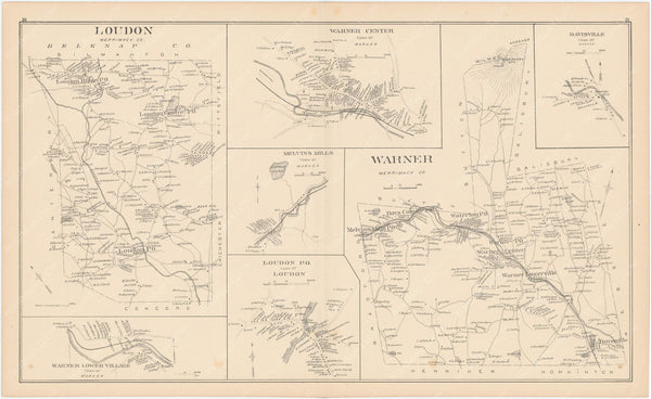 Loudon and Warner, New Hampshire 1892