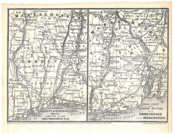 Railroads Serving Connecticut and Rhode Island 1848