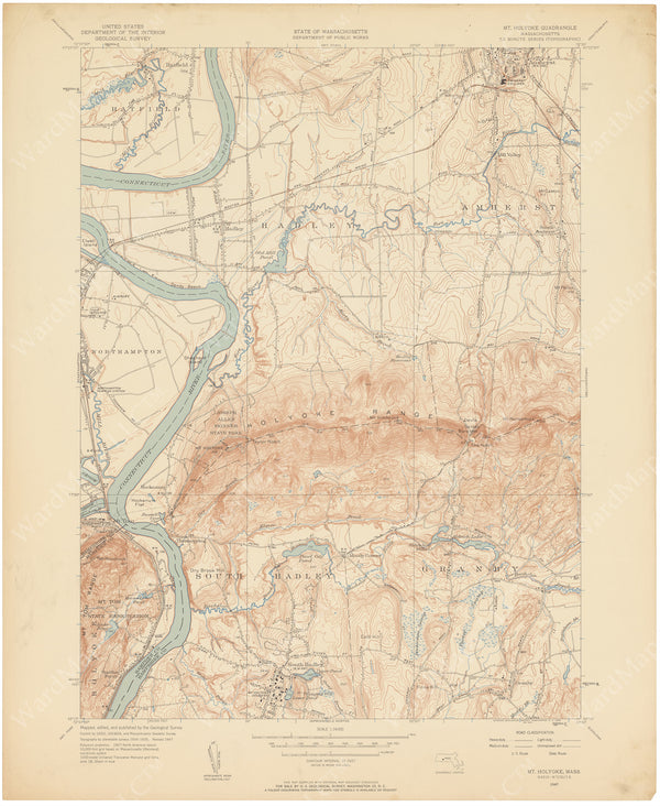 USGS Massachusetts: Mount Holyoke Sheet 1947