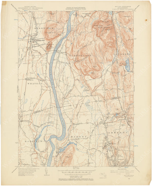 USGS Massachusetts: Mount Toby Sheet 1955