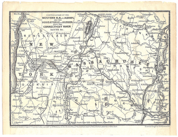 Railroads in Western Massachusetts and Eastern New York 1848