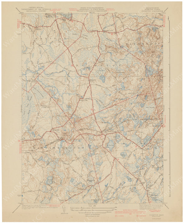 USGS Massachusetts: Plympton Sheet 1941