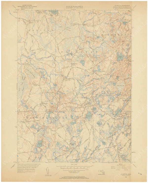 USGS Massachusetts: Plympton Sheet 1949