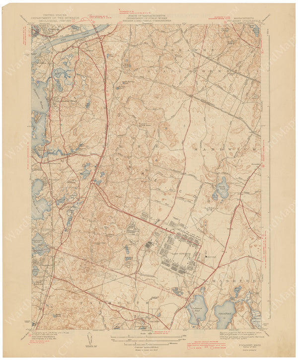 USGS Massachusetts: Pocasset Sheet 1943