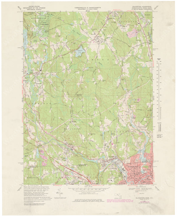 USGS Massachusetts and Rhode Island: Blackstone Sheet 1979
