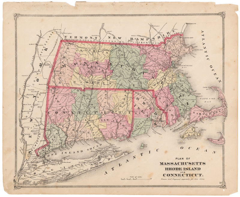 Connecticut, Massachusetts, and Rhode Island 1873