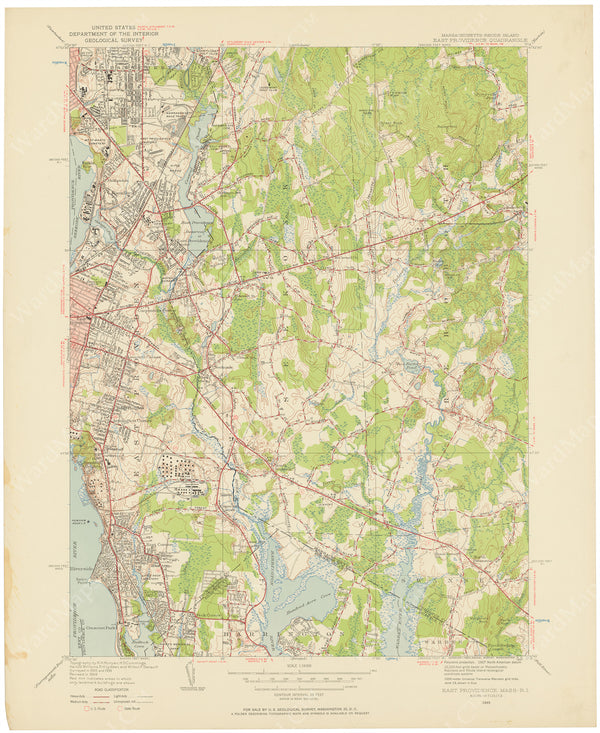 USGS Massachusetts and Rhode Island: East Providence Sheet 1949