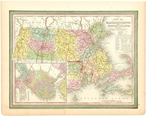 Massachusetts and Rhode Island 1854