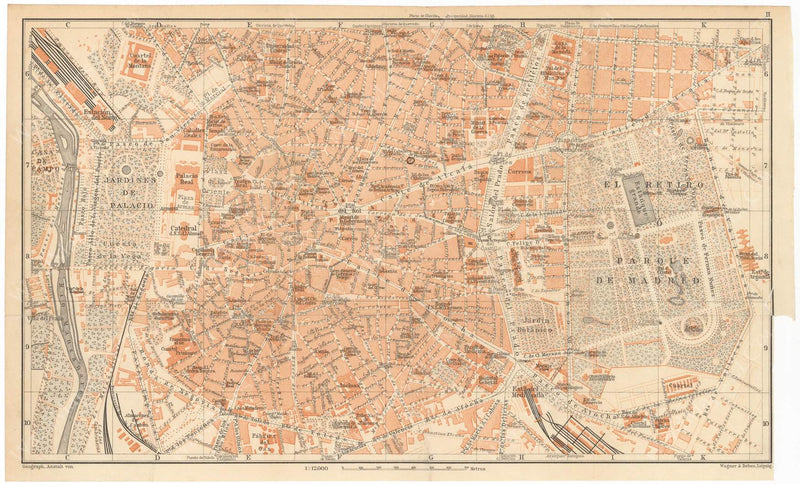 Madrid, Spain 1913: City Center