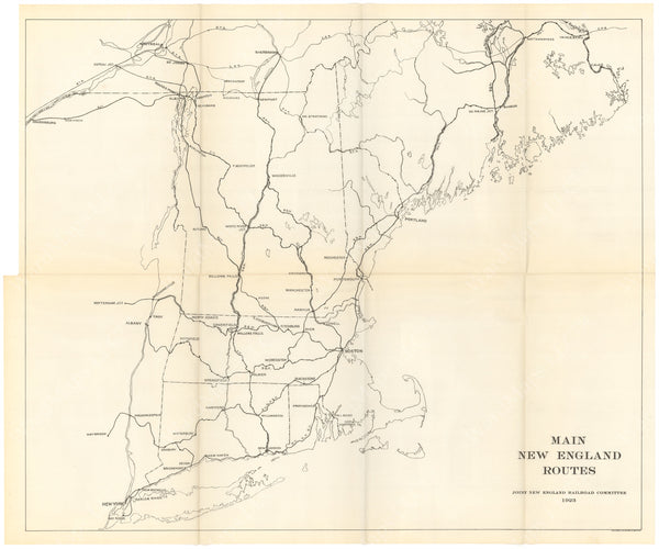 Joint New England Railroad Committee 1923: Main New England Routes