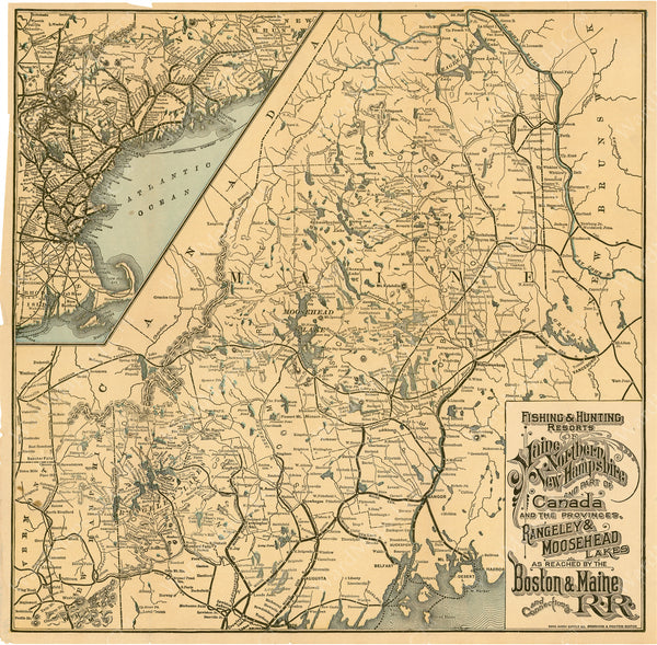Fishing & Hunting Resorts of Maine, Northern New Hampshire, and Part of Canada Circa 1900