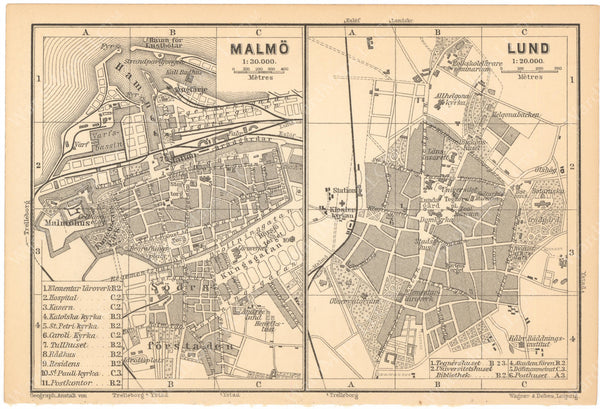 Lund and Malmo, Sweden 1898