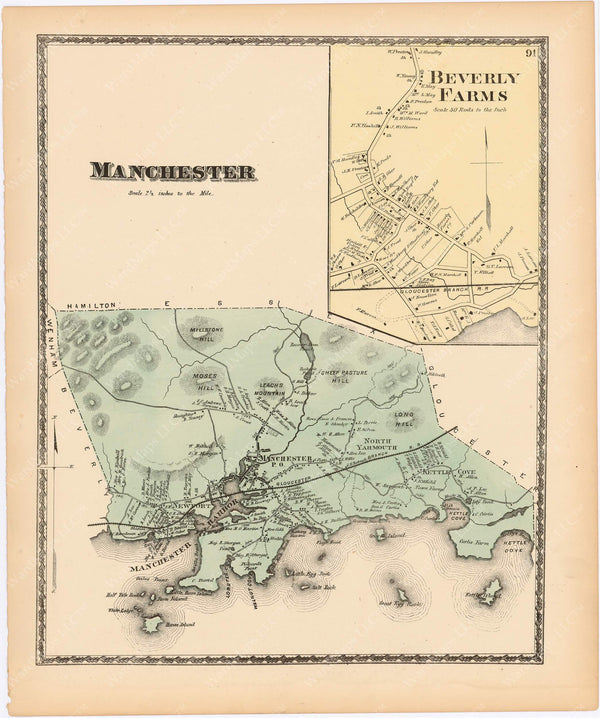 Manchester and Beverly Farms, Massachusetts 1872