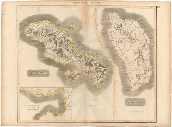 Dominica and Martinique Islands 1814