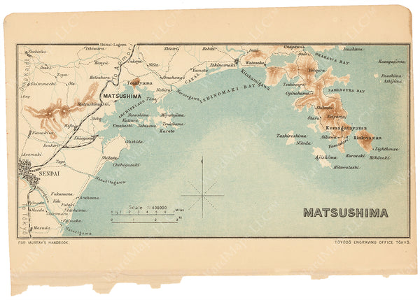 Sendai and Matsushima Region, Japan 1913