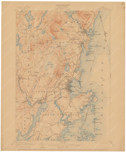 USGS Maine: Rockland Sheet 1910