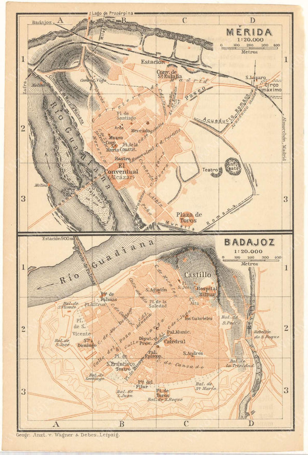Badajoz and Merida, Spain 1913