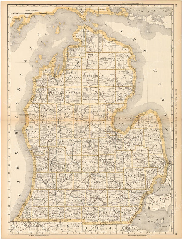 Michigan 1892 (Lower Peninsula)