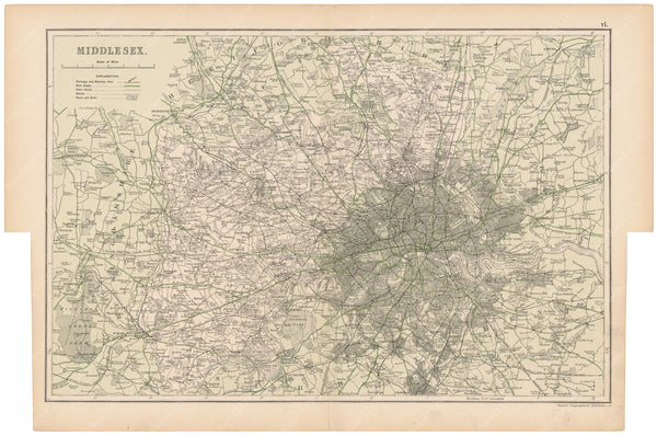 London, England and Suburbs 1910: Middlesex County