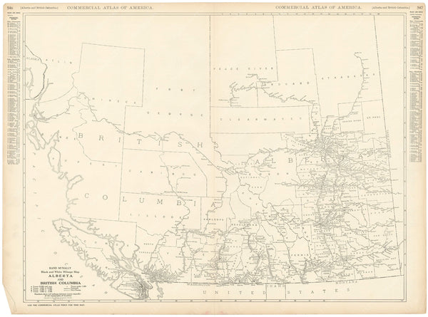 Alberta and British Columbia 1925: Mileage Map