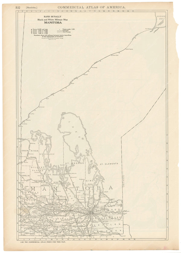 Manitoba 1925: Mileage Map
