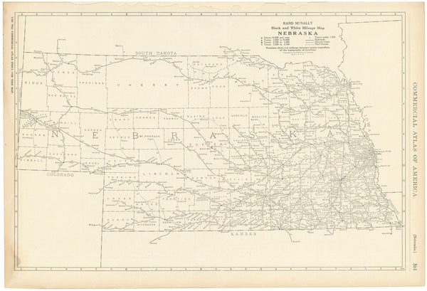 Nebraska 1925: Mileage Map