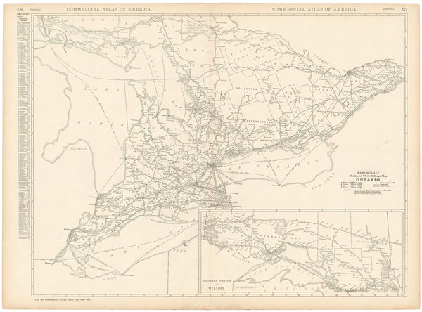 Ontario 1925: Mileage Map